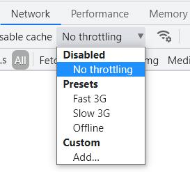 Google Chrome throttling